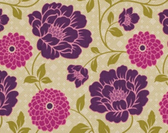 Joel Dewberry Fabric - 1 Fat Quarter Bungalow -  Dahlia in Grassland / Free Spirit Fabric
