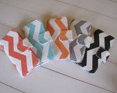 Sale-Womens Trendy Chevron Wallets, Clutches in Gray, Black, Turquoise Blue, Orange, or Coral