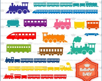 Buy 2 Get 2 Free ---- Digital Train Clip Art ---- Personal and Small Commercial Use ---- BB 0826