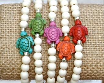 Resort Sea Turtle Beaded Bracelets by BeadRustic FREE SHIPPING