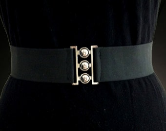 """2"""" Elastic Solid Black Belt"""