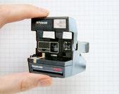 Laser Cut Polaroid Camera Wooden Brooch