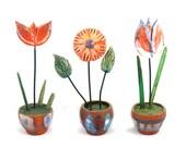 Ceramic Flowers (set), Ceramic Home Decoration, Handmade ceramic flowers, Housewares gift