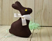 Chocolate Bunny, Felt Food, Easter