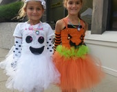 Ghost tutu dress Halloween Costume Set