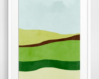 Minimalist Abstract Landscape Art Print, Giclee Print, Large Wall Art, Minimalist Poster