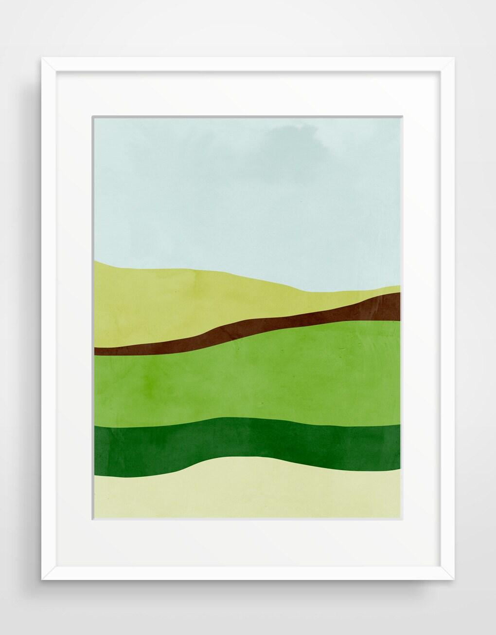 Minimalist abstract landscape art print giclee print large for Minimal art landscape
