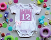 Baby girl first year belly sticker printables