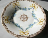 Samson- Edme et Cie Co. 5 inch For-get-me-not Swags w/ Bows Dessert Serving Plate