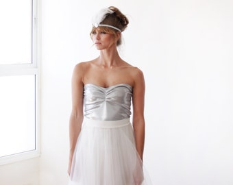 Ballerina Strapless Silver stretchy top 2007