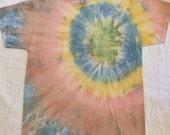 Men's Large L Pocket T shirt, Natural dyes, gentle on skin, Plant dyed Vegan tie dye T-shirt, earth friendly, veggie dyed