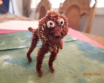 Vintage 1960's Pipe Cleaner Animal/Dog/Brown/PJsBeadedEagle