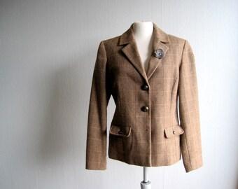 Blazer Brown , Wool Blazer, Vintage Blazer, Vintage Jacket size S\M, Womens Blazer 90s Fashion, Vintage Fashion