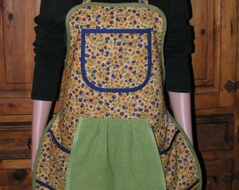 Dainty Floral Print Apron - Mary's Harvest Thyme Aprons copyright 1997