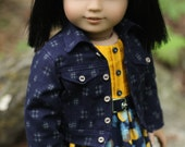 Fit and Flare Dress with Crosshatch Jean Jacket for AG Doll