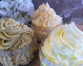 Soapy Cream Whip Luxury Foaming Fluffy whipped Bath Butter with 5 Nourishing oils Pura Gioia