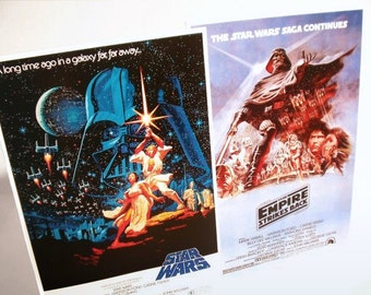 Star Wars & The Empire Strikes Back Movie Counter Top Stand-Up Displays - Collectibles Memorabilia Gift Idea Posters Retro Collection kiss76