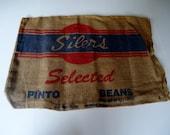 Vintage Burlap Seed Sack Grain Sack Feed Sack Pinto Bean Bag