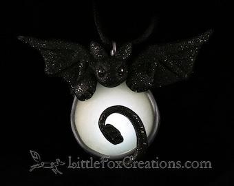 Glowing Night Dragon Amulet