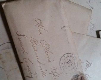 1910s Antique Letters To Mother Piper Handwritten Correspondence Lot from 1910s-1930s