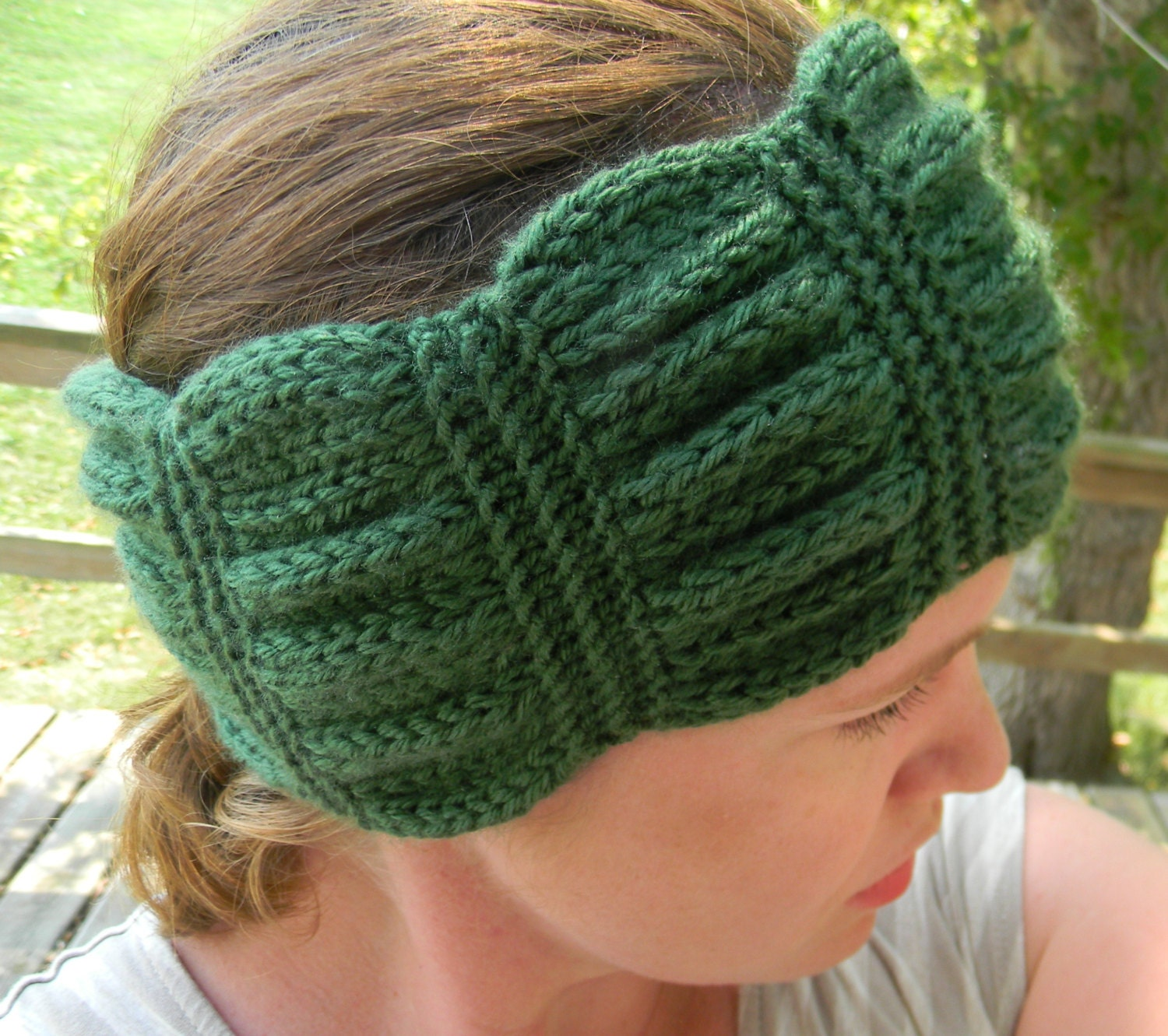 Hippie Headband Knitting Pattern : Knitting Pattern - Betty headband, knit headband pattern ...