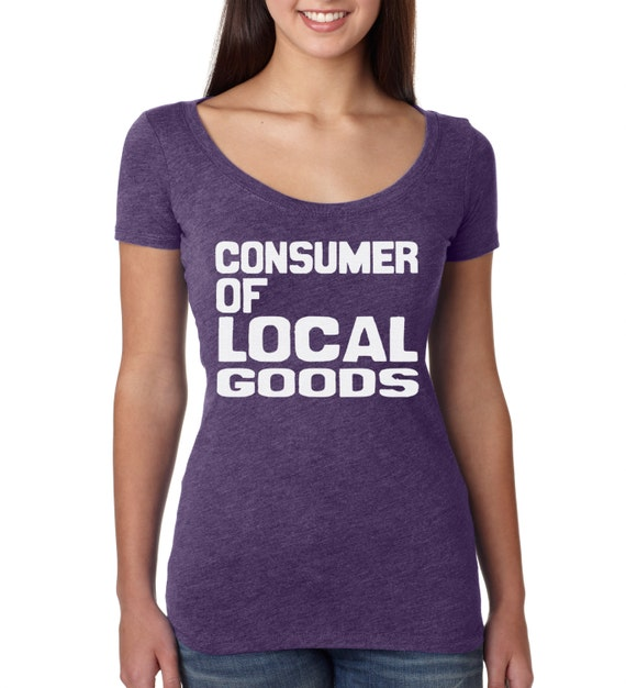 Items similar to local goods women 39 s t shirt hand screen for Local t shirt print shops