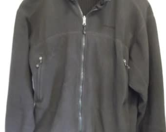 "vintage ,PATAGONIA type ""R"" wind block full zip fleece in deep olive green, size XL"