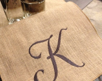 """Burlap Personalized Runner - 12"""" by 9 feet long - Holiday - Wedding or Party - natural burlap runners"""