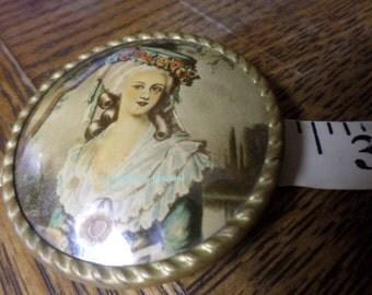 JANUARY SALE - Marie Antoinette - Likeness - Ladies Brooch - French