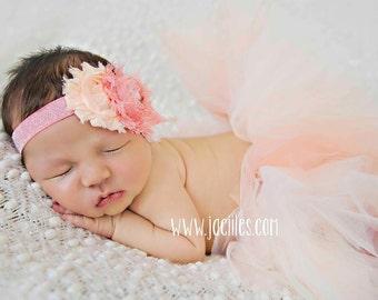 Newborn tutu set, baby tutu, tutu set, peach tutu, coral tutu, ivory tutu, newborn photo prop, tutu, newborn tutu, photo prop, baby tutu set