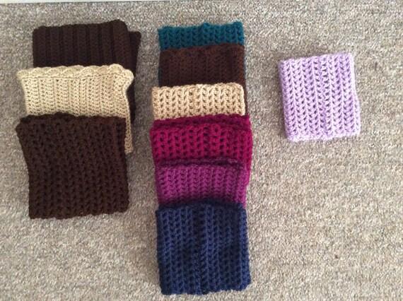 Free shipping in Canada, women's boot socks, crochet