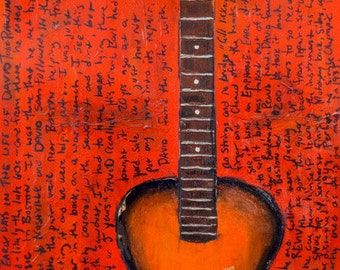 David Rawlings 1935 Epiphone acoustic guitar art print