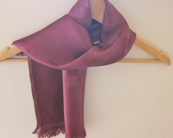 1940s burgundy scarf for a man or a woman.
