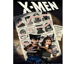 """Lego X-Men Days of Future Past  Print - Medium 23"""" x 16"""""""