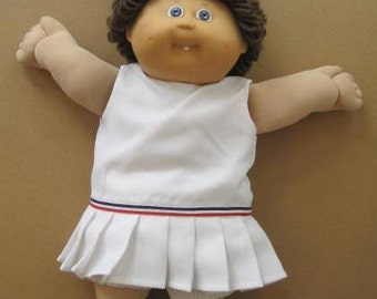 Cabbage Patch Kids Doll Girl Tooth 1986 Coleco P Blue Eyes Brown Hair with Original Clothes  E416Bs