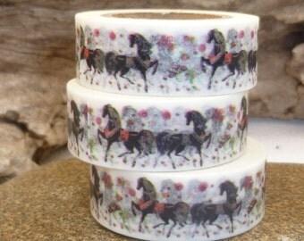 Black Horse Stallion Washi Tape - W1147