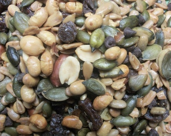 Trail Mix Healthy all Day Energy  Trail MIx Pepitas, Soy, Peanuts, raisins and more