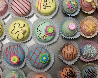 Cake Ball Chocolate 12 and Oreo 12  Assortment Whimsical Winnie the Pooh Theme