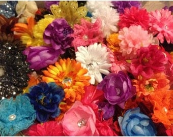 """20pcs. of Boutique Hair Clips~2""""-4""""-Mix Lot of Colors and Styles"""