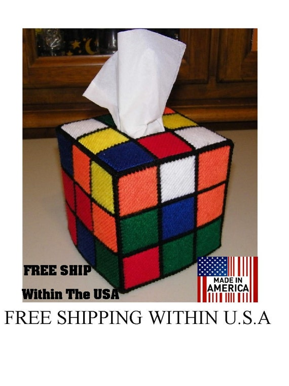Free Fhipping In  USA only Totally Accurate & Authentic Rubiks Rubik Rubix Rubic Cube Tissue Box Cover  Seen on Big Bang Theory