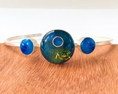 "Fine Silver and Resin Bangle ""Monet"""