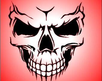 skull airbrush stencil