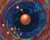 Art Print titled Bird Portal from an original painting By Jennifer Barrineau