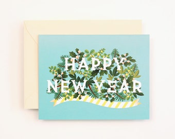 Happy New Year Card for Holidays