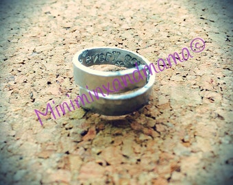 Sterling Silver Hand Stamped Secret Message Wrap Ring