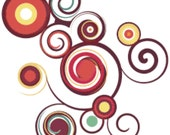 Polka Dots and Swirls Abstract Counted Cross Stitch Pattern Chart PDF Download by Stitching Addiction