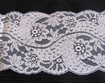 Lace Vintage Off White Ivory Lingerie Lace Trim - 5.5 Inches Wide - 3 Yards (#110A)