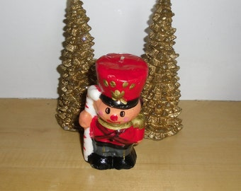 Vintage Christmas Ornaments - Soldier Candle - Christmas Decorations - Christmas Display - Holiday Decor
