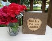 Wedding Guest Book - Distressed Guest Book - Rustic Wedding Guest Book - Bride and Groom Guest Book - Shabby Wedding Decor
