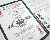 Las Vegas wedding invitations fun and unique playing card casino wedding invites - DEPOSIT LISTING